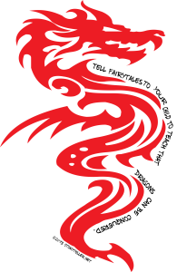 red dragon design tell fairytales